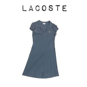 Lacoste blue polo dress with logo